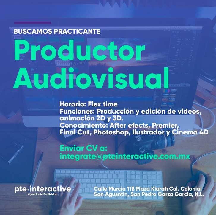 Practicante Productor Audiovisual